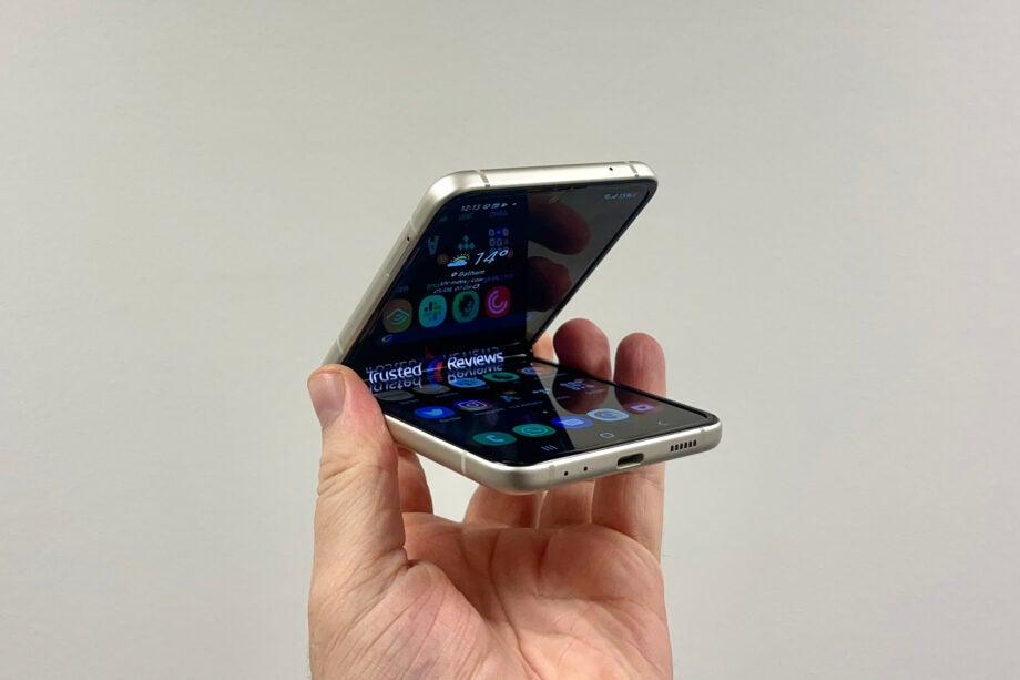 Samsung Galaxy Z Flip 3 half closed