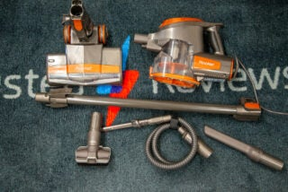 Shark Rocket Corded Stick Vacuum HV302 with accessories