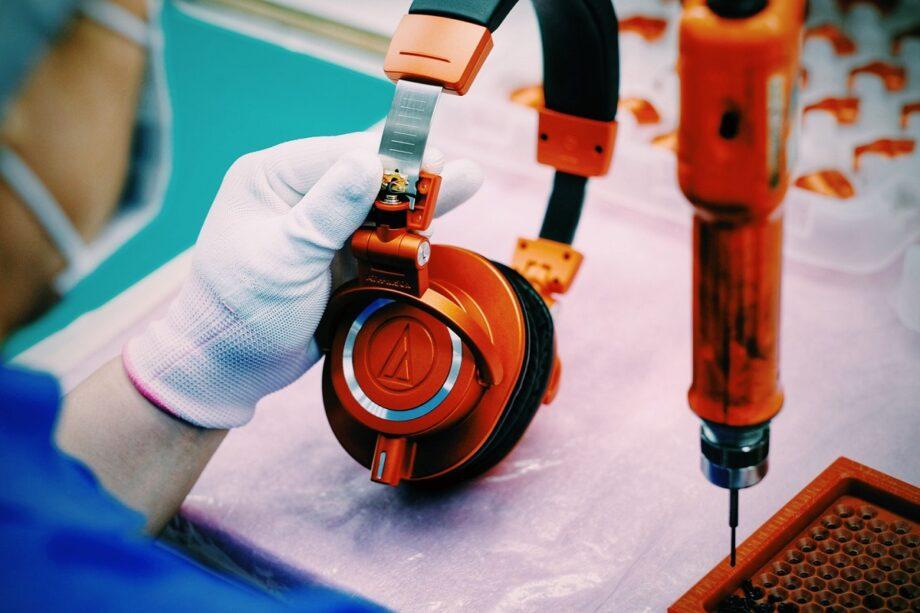 Audio Technica ATH-M50xMO production photo