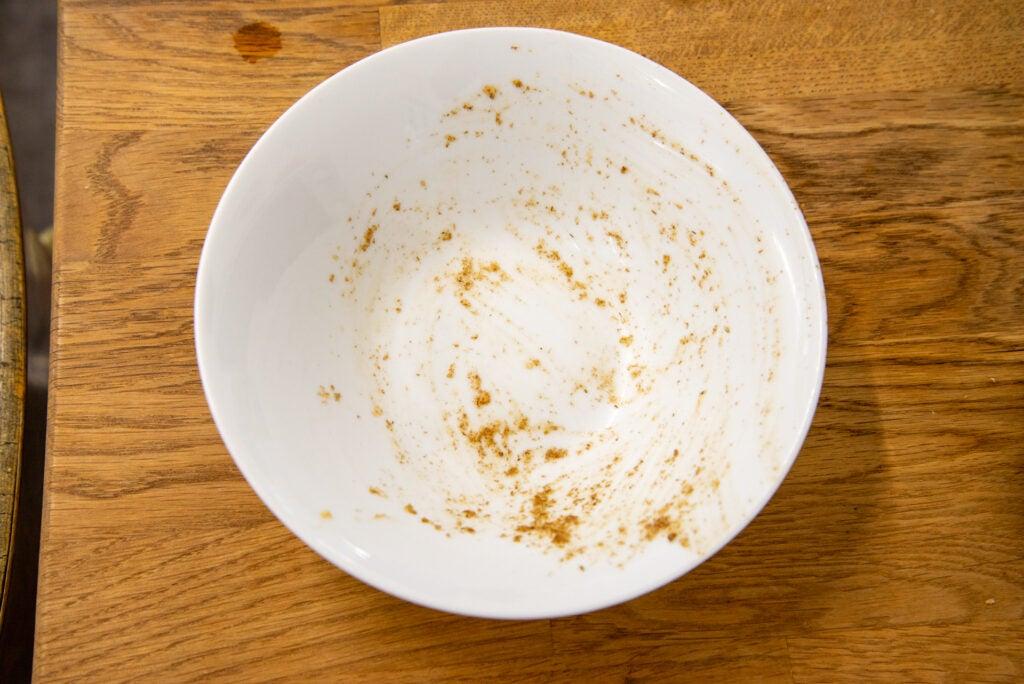 Miele G 7160 SCVi AutoDos dirty cereal bowl