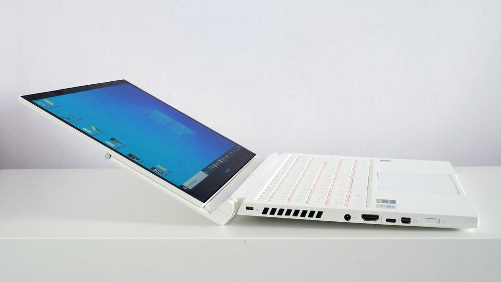 Acer ConceptD 3 Ezel Pro tilted back