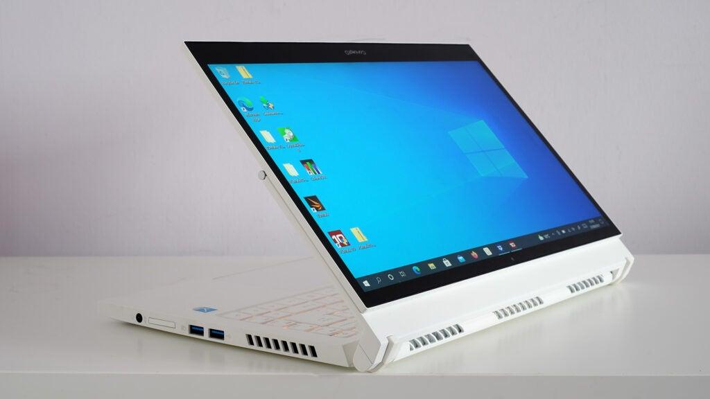 Acer ConceptD 3 Ezel Pro screen folded back