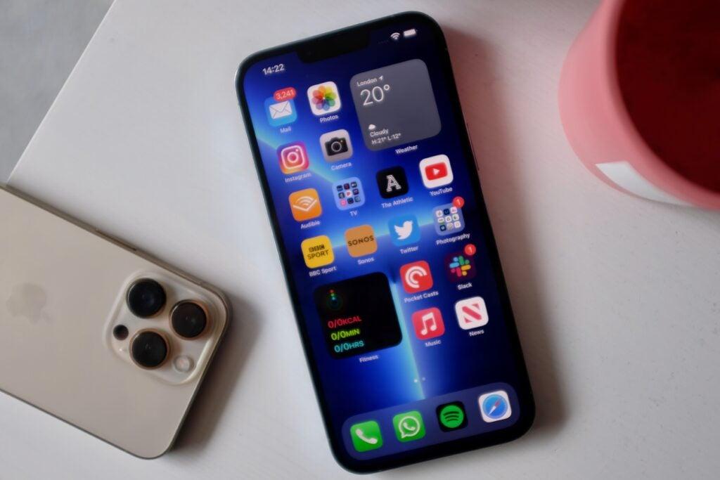 iPhone 13 Pro screen