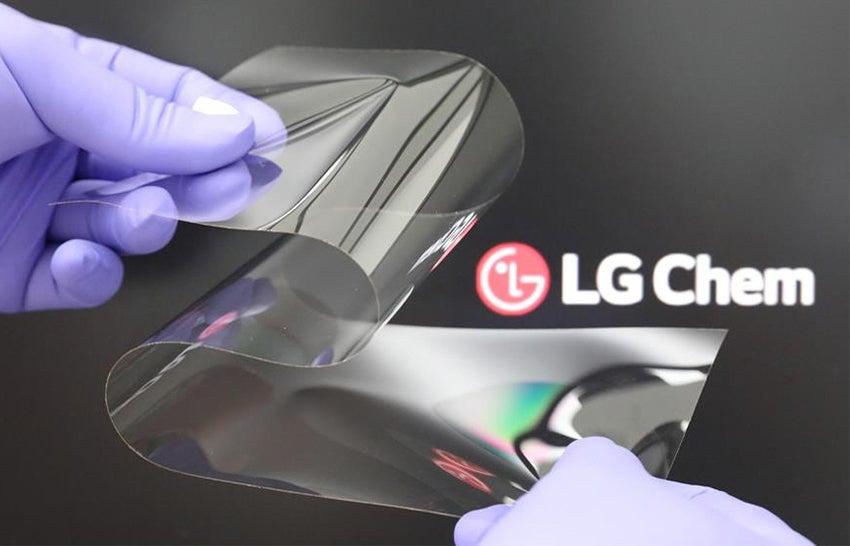 LG Chem Real Folding Window Display tech