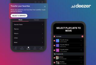 Deezer Transfer My Favourites feature