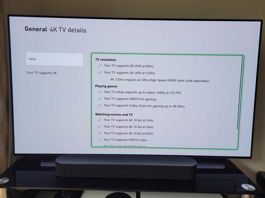 Dolby Vision for Gaming 4K TV test LG