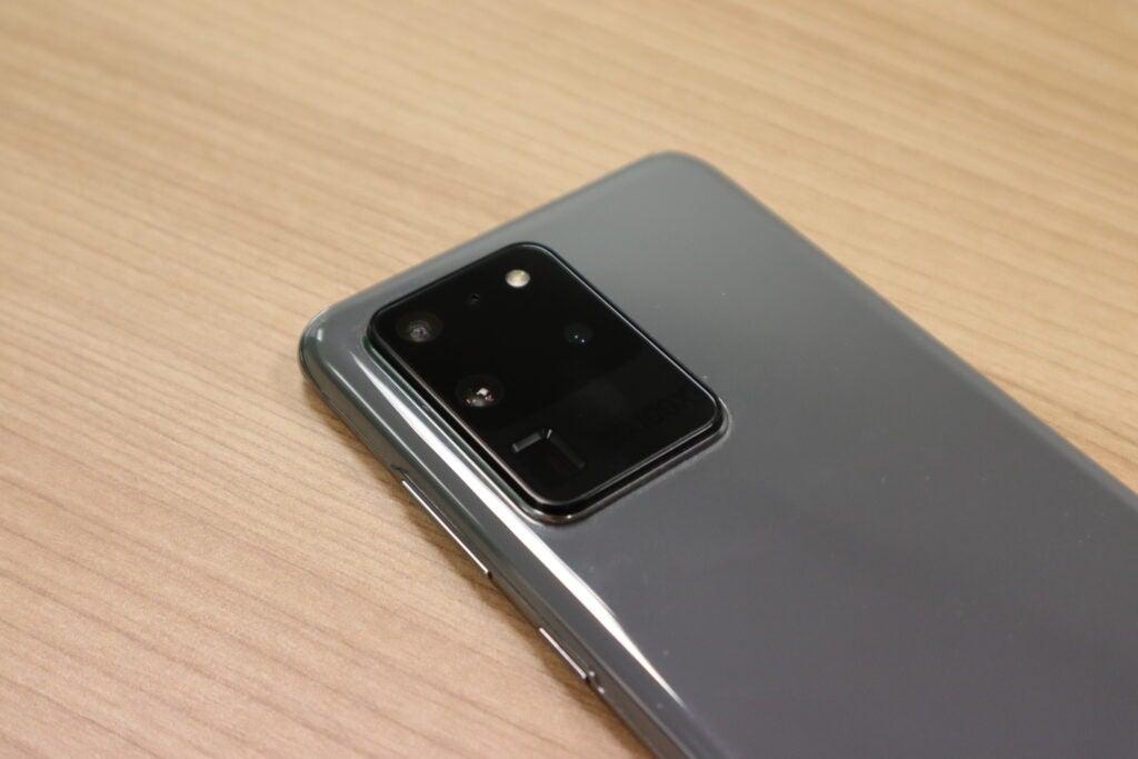 Configuración de la cámara trasera del Galaxy S20 Ultra