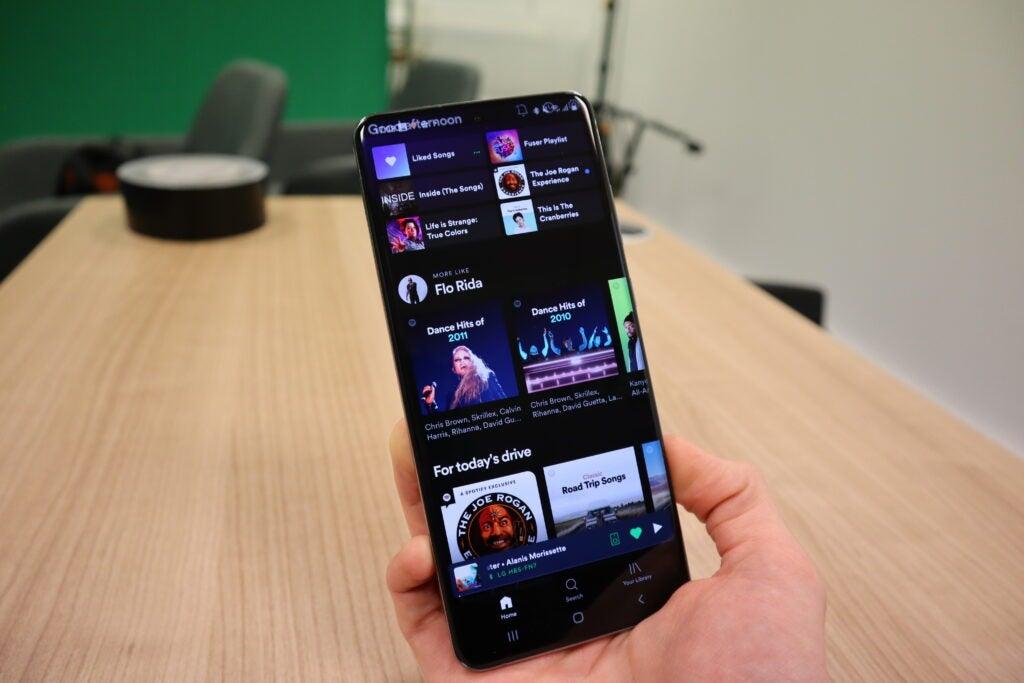 Spotify se ejecuta en el Galaxy S20 Ultra