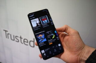The Audible app running on the Galaxy S20 Ultra