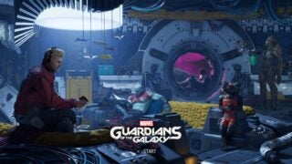 Title screen for Marvel's Guardians of the Galaxy