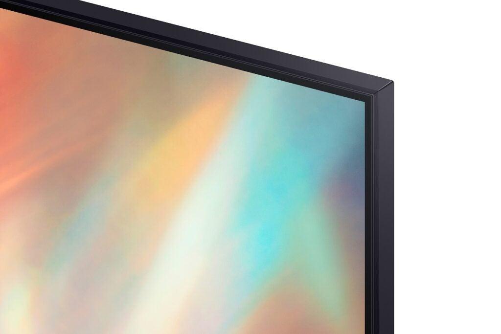 Samsung AU7100 bezel detail