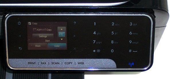 HP Officejet 7500A - controls