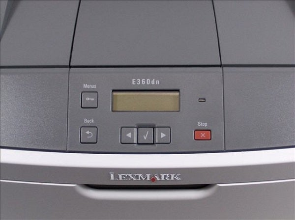 Lexmark E360dn - Controls