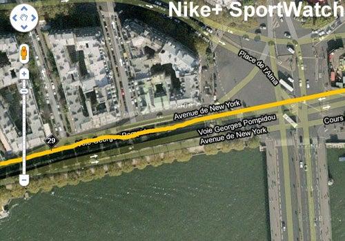 Paris Marathon Nike SportWatch