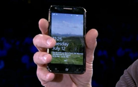Samsung WP7 handset
