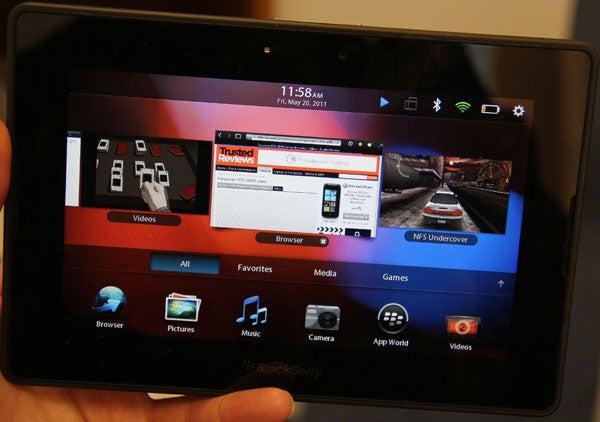 BlackBerry PlayBook Multitasking