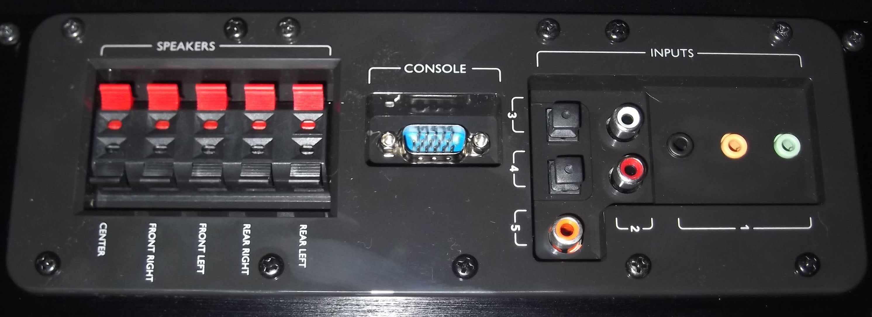 Logitech Z906 IO panel