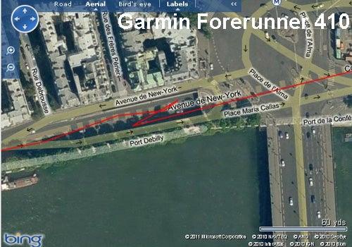 Paris Marathon Garmin Forerunner 410