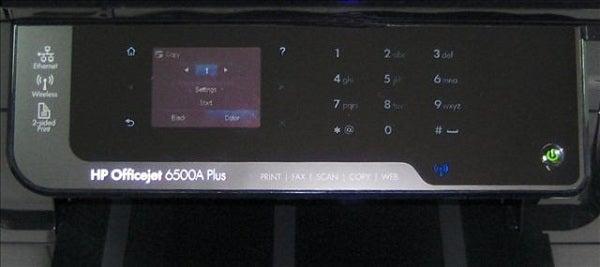HP Officejet 6500A Plus - Controls